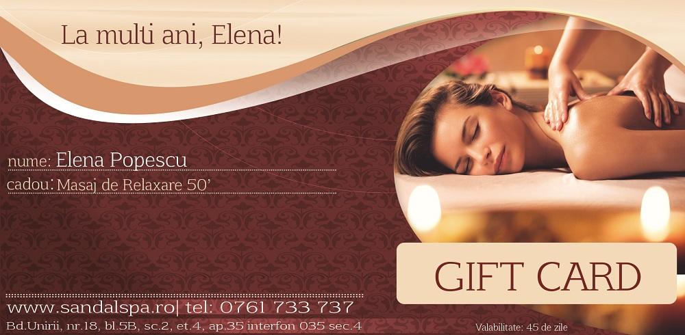 Gift Card Sandal SPA UNIRII